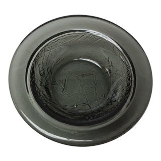 Mid-Century Scandinavian Modern Blown-Glass Textured Ashtray / Bowl For Sale