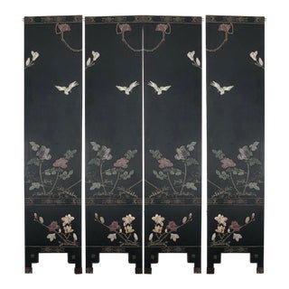Chinese Export Four Panel Corromandel Screen, C. 1920s For Sale