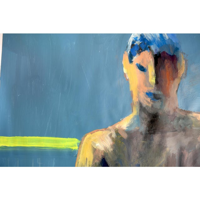 Acrylic Painting Boy in a Rowboat - Image 3 of 7