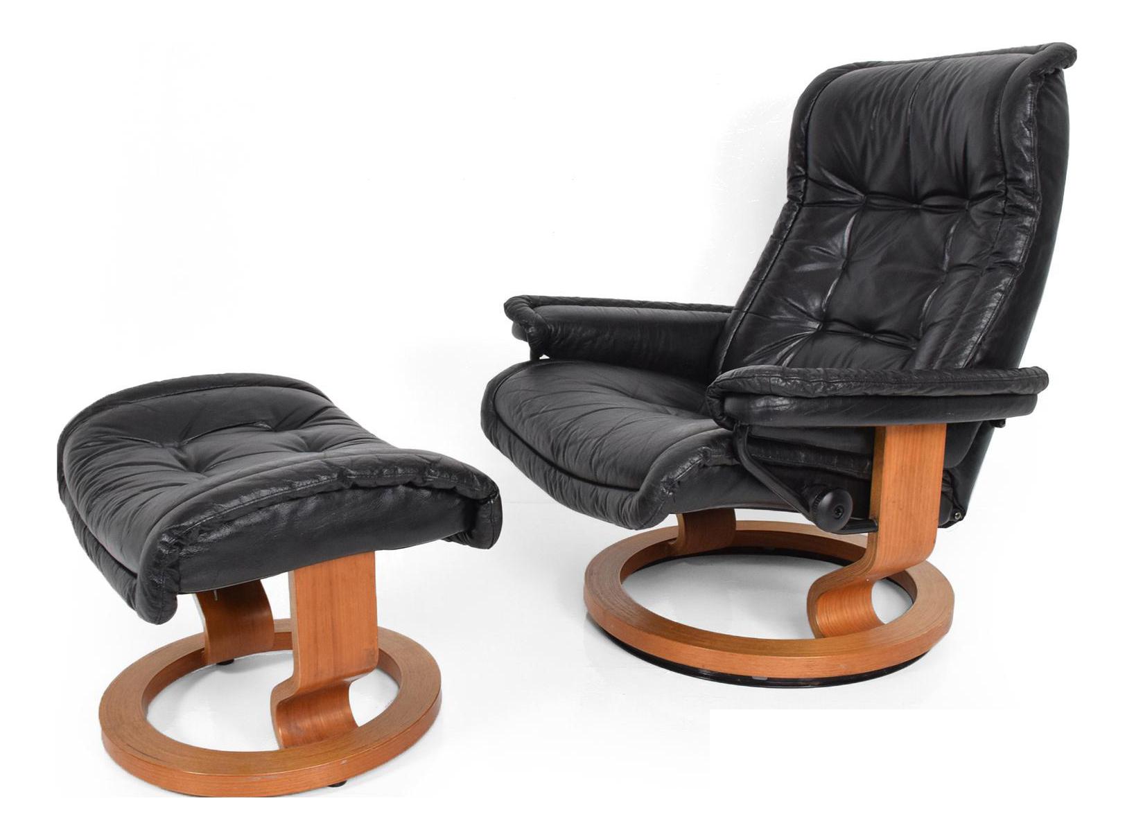 modern recliner chair. Superb Vintage Scandinavian Modern Ekornes Stressless Recliner Chair \u0026 Ottoman | DECASO