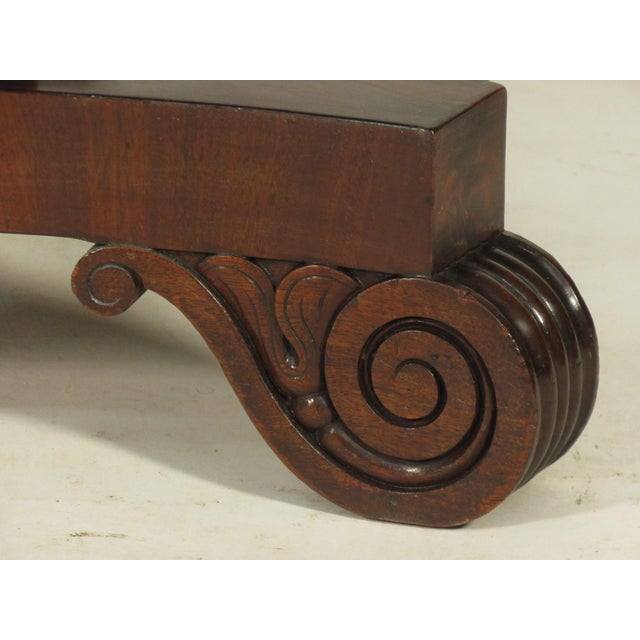 Brown 19th Century American Empire Card Table For Sale - Image 8 of 11