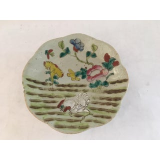 Antique Chinese Porcelain Rooster Farm Scene Plate Preview