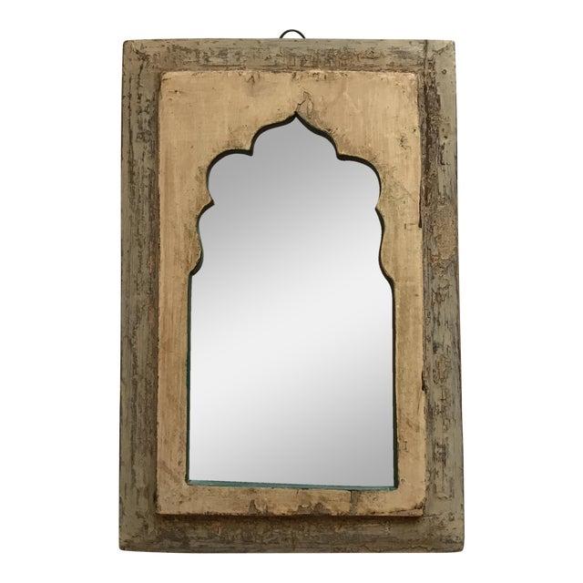 Vintage Indian Archway Painted Teak Mirror - Image 1 of 11