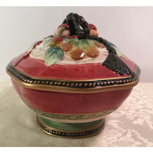 Fitz & Floyd Holiday Covered Serving Dish - Image 6 of 11