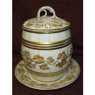 Antique Wine Barrel Form Porcelain Punch Bowl Preview