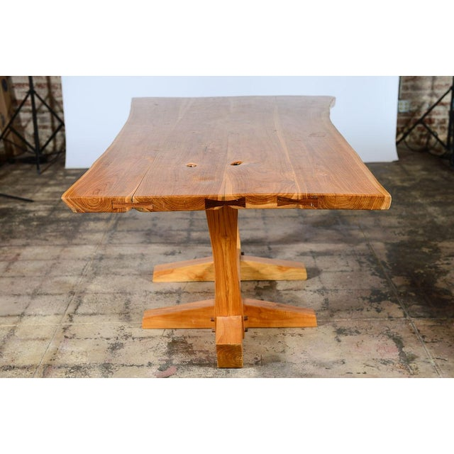 George Nakashima Style Conoid Dining table For Sale - Image 5 of 10