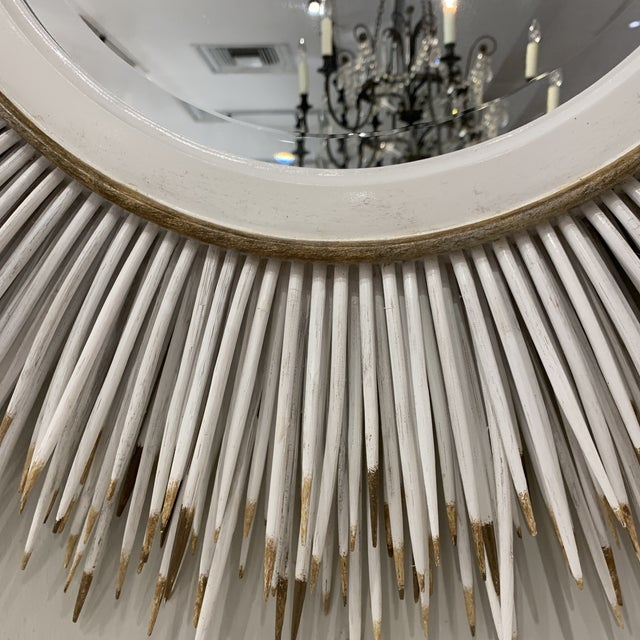 2000s Hollywood Regency Faux Porcupine Mirror For Sale - Image 5 of 13