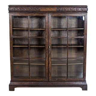 Glazed Cabinet-Showcase From the Interwar Period For Sale