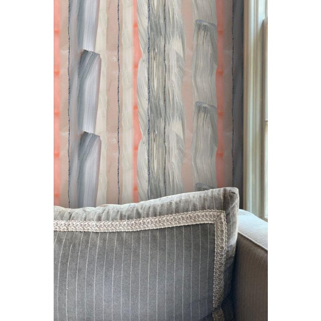 """""""Peach Marble Stripe"""" wallpaper is a medium scale stripe that can be hung vertically or horizontally and comprised of..."""
