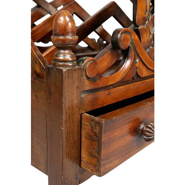 Early 19th Century William IV Mahogany Canterbury For Sale - Image 5 of 11