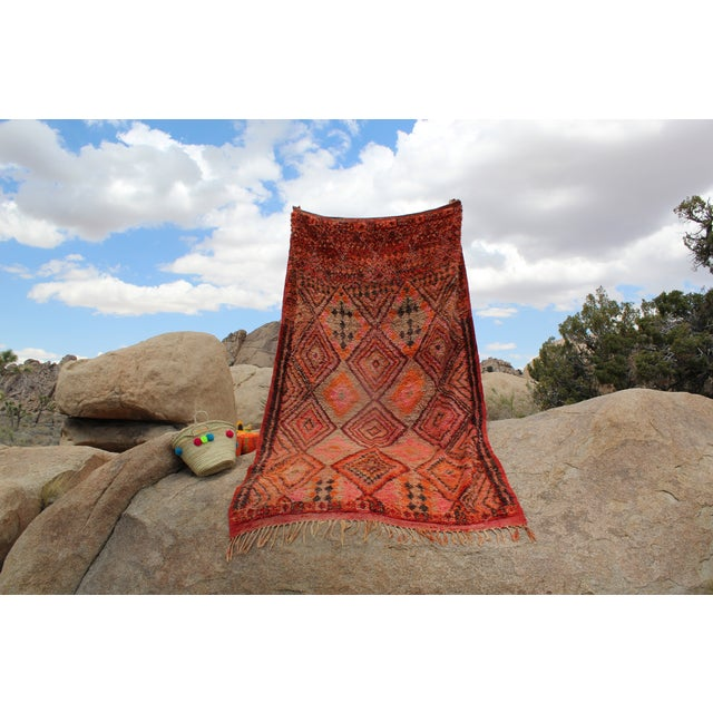 Vintage Moroccan Beni MGuild Rug - 7' x 11' - Image 6 of 8