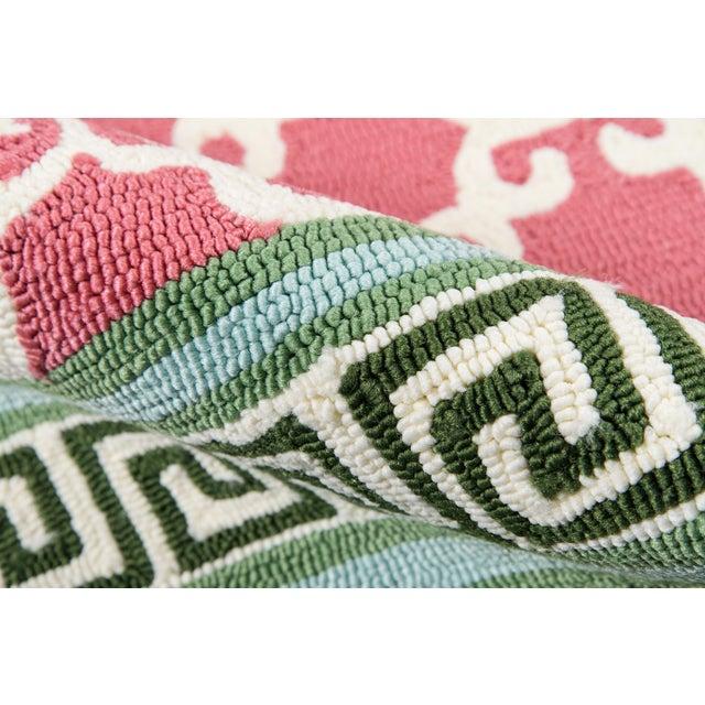 "Madcap Cottage Under a Loggia Montserrat Pink Indoor/Outdoor Area Rug 2'3"" X 8' Runner For Sale - Image 4 of 7"