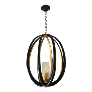 Sphere and Glass Chandelier For Sale