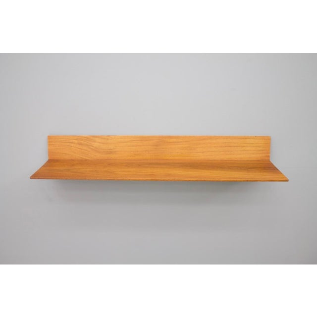 Teak Mirror and Console by Aksel Kjersgaard & Poss. Copenhagen Denmark 1960s For Sale - Image 6 of 11