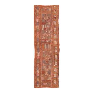 Vintage Mid Century Embroidered Arabi Kilim Runner For Sale