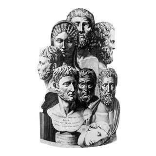 Fornasetti Metal Umbrella Stand For Sale