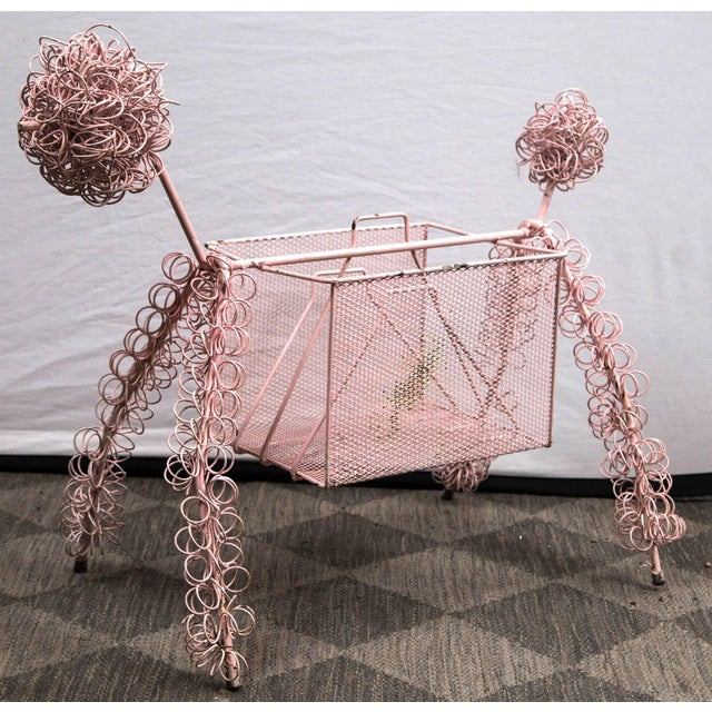 1950s Frederick Weinberg Pink Poodle Magazine Stand For Sale - Image 5 of 7