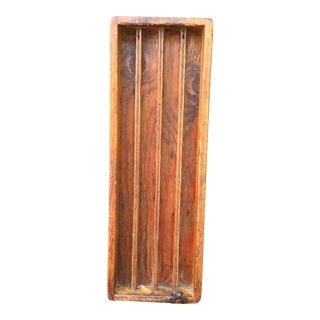 19th-Century Wooden Gambling Hall Chip Tray For Sale
