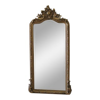 Early 20th Century Carved French Louis XV Style Giltwood Mirror For Sale