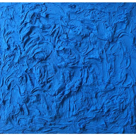 """Abstract """"Cobalt Wave"""" Mixed Media Painting by Anne Harper For Sale - Image 3 of 3"""