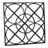 Image of Modern Fabricated Ornamental Iron Wall Art by Global Views Black For Sale
