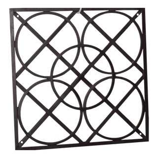Modern Fabricated Ornamental Iron Wall Art by Global Views Black For Sale