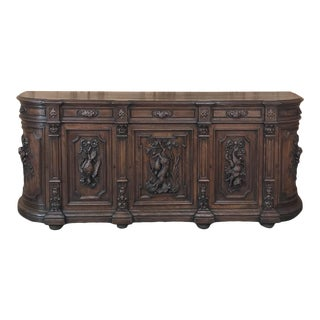 19th Century Grand French Renaissance Hunt Buffet For Sale