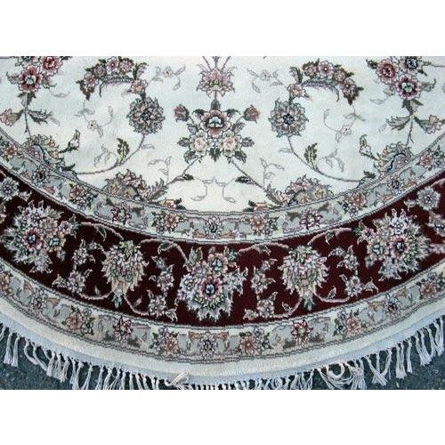 Hand Woven Silk Kashan Rug - 7' x 7' - Image 5 of 6