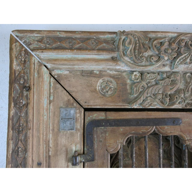 Antique Northern India Hand Carved Double Doors With Jamb - Image 6 of 10