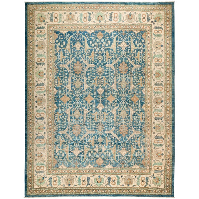 """Oushak Hand Knotted Area Rug - 9' 3"""" X 12' 1"""" - Image 4 of 4"""