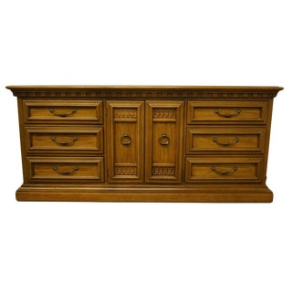 "United Furniture Tudor Hall Collection 72"" Triple Door Dresser For Sale"