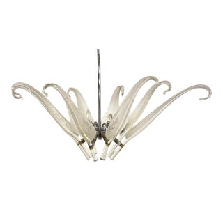 Franco Luce Fo Seguso Murano Blown Glass Chandelier For Sale