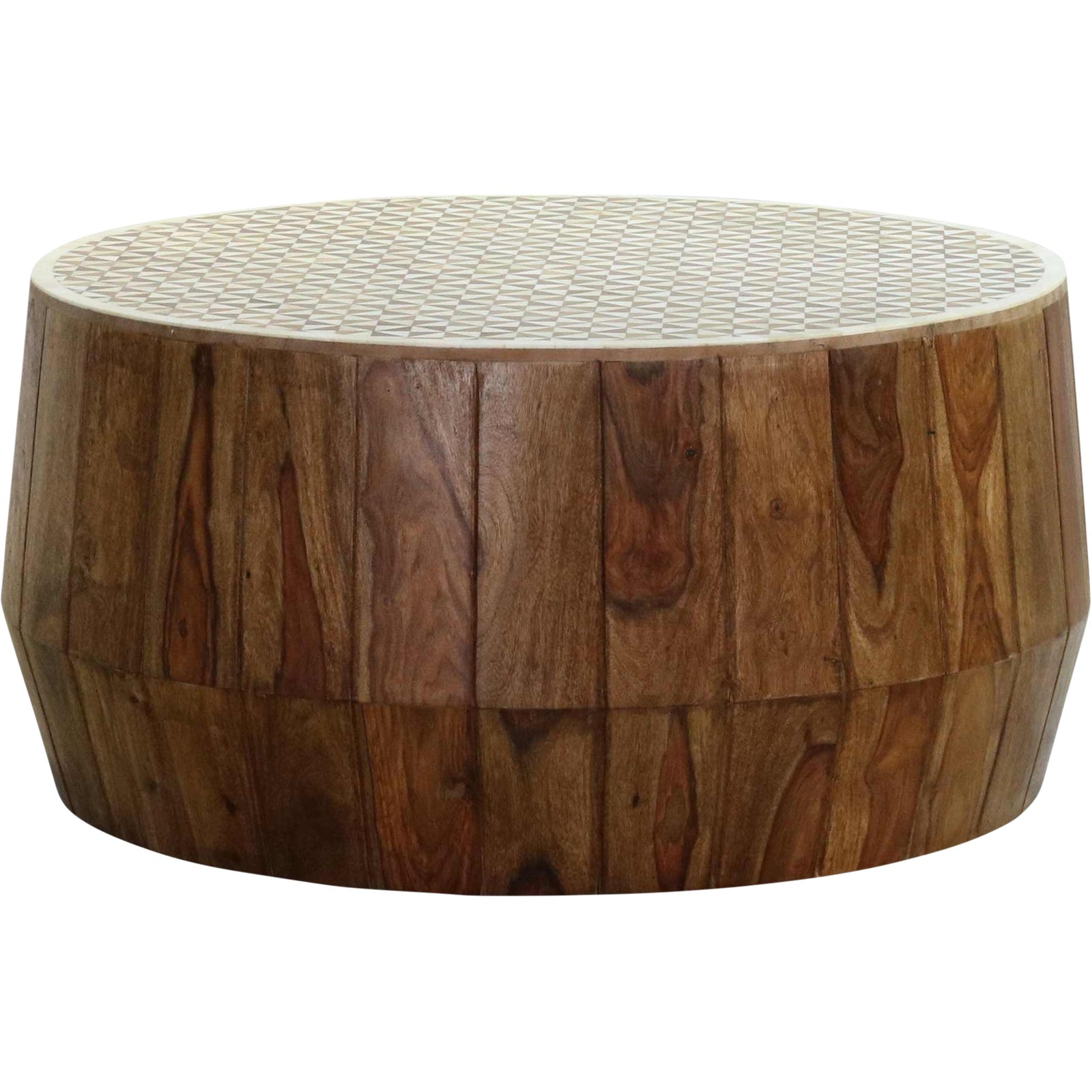 Savona Inlay Mango Wood Coffee Table Chairish