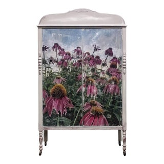 Vintage Coneflowers Armoire