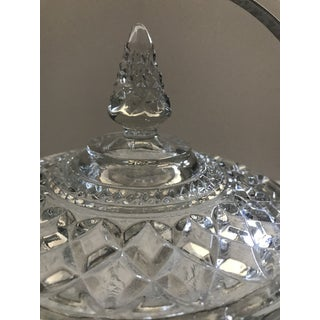 Mid Century Modern Pressed Glass Ice Bucket With Lid- Anchor Hocking Wexford Glass Preview