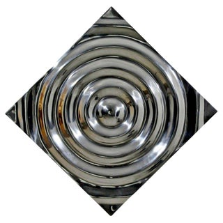 Mid-Century Modern Aluminium Cast Saturn Ring Wall Sculpture Relief, 1970s For Sale
