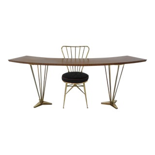 Italian Hollywood Regency Writing Desk & Chair