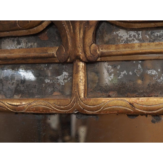 Wood Louis XV Epoch Giltwood Mirror For Sale - Image 7 of 8