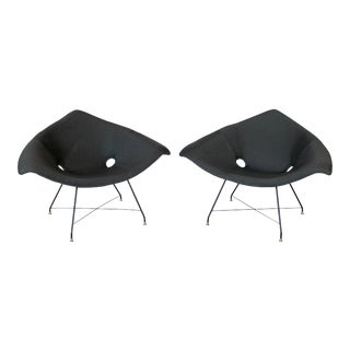 Pair Augusto Bozzi Cosmos Lounge Chairs for Saporiti For Sale