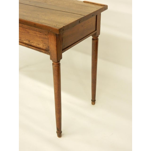 Metal 18th Century French Provincial Walnut Side Table For Sale - Image 7 of 9