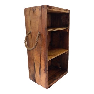 Rustic Wood Nautical Shelf Wine Rack Kids Toy Storage For Sale