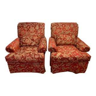 Vintage Upholstered Club Chairs - a Pair For Sale
