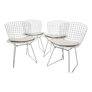 Bertoia for Knoll Side Chair With Seat Pads- Set of 4