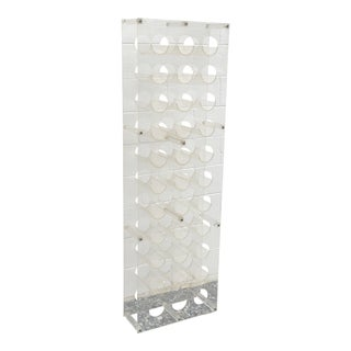 33 Bottle Lucite Wine Rack For Sale