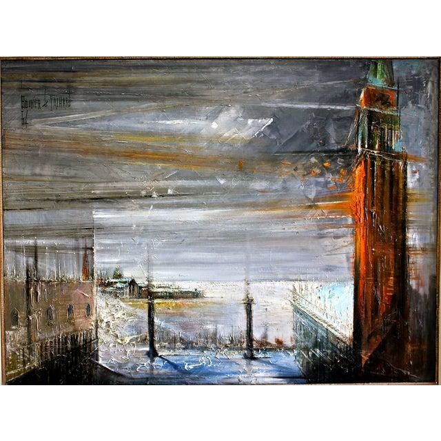 Italian Venice Cityscape by Regis Bouvier de Cachard For Sale - Image 3 of 5