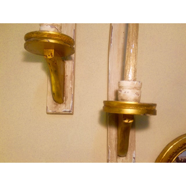 Vintage Wooden Candle Sconces - A Pair - Image 5 of 5