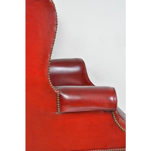 Mahogany Wingback Chair, England For Sale - Image 7 of 12