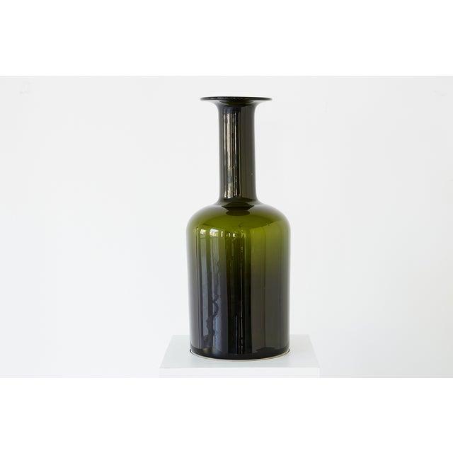 """""""Gulvase"""" glass bottle vase by Otto Brauer for Kastrup Holmegaard Denmark, c 1960s hand blown glass 20"""" h x 8"""" w x 8"""" d"""