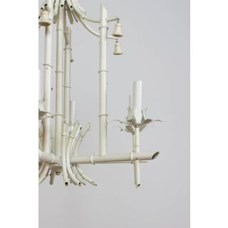 Mid 20th Century White Tole Bamboo Chandelier Preview