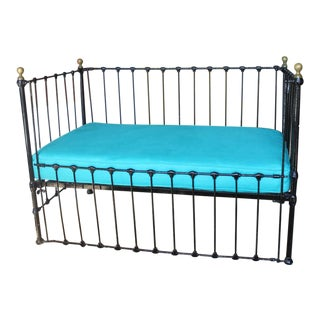 Antique Iron Convertible Crib Bench
